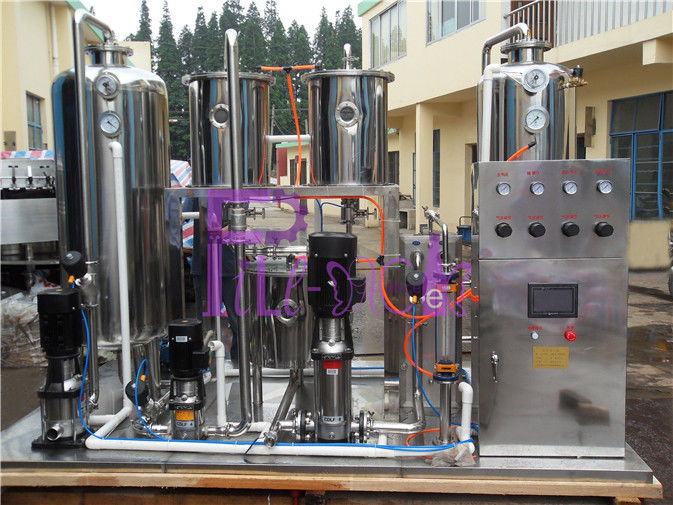 Automatic Soft Drink Processing Line High Power Soda Water CO2 Mixer 6000L/H